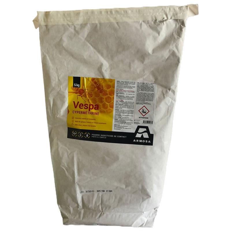 Poudre insecticide Guêpe Frelon dont asiatique, Vespa poudre, 5 kg