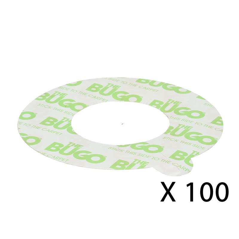 Piège collant pour pied de lit pour la détection de punaise de lit, BUGO - Sols souples -Lot de 144 pièges