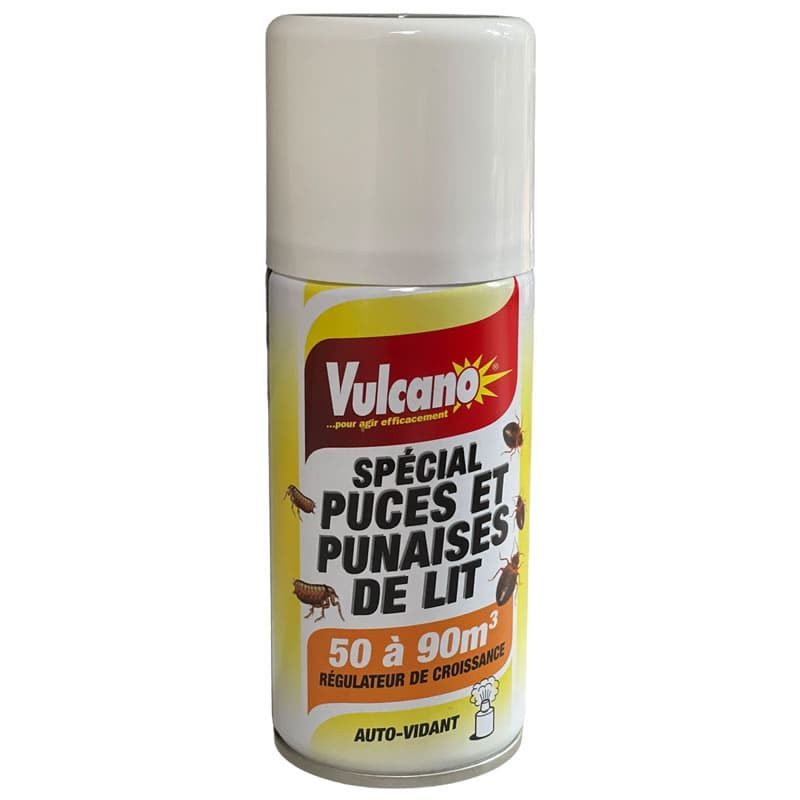 insecticide sp cial puces vulcano a rosol de 150 ml tout pour les nuisibles. Black Bedroom Furniture Sets. Home Design Ideas